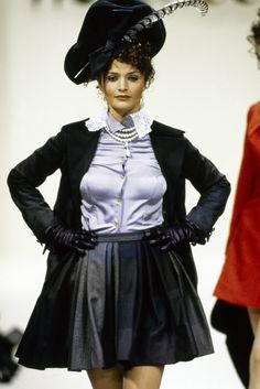 Andreas Kronthaler for Vivienne Westwood Fall 1994 Ready-to-Wear Fashion Show - Helena Christensen