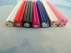 Kawaii Polymer Clay Fimo Canes for Nail Art, Decoden (Qty 8)