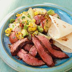 Make our Mesquite Skirt Steak with Corn & Potato Salad for dinner tonight. Recipe: http://www.bhg.com/recipe/mesquite-skirt-steak-with-corn-and-potato-salad/?socsrc=bhgpin051712