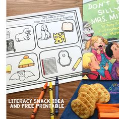 Literacy Snack Idea Silly + Free Printable