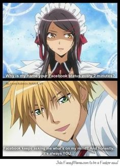 Nice One Usui! [Ok, but like, wouldn't he really tho] Anime Couples Manga, Cute Anime Couples, Anime Manga, Anime Art, Anime Guys, Anime Pick Up Lines, Cute Short Love Story, Maid Sama Manga, Cute Boy Things