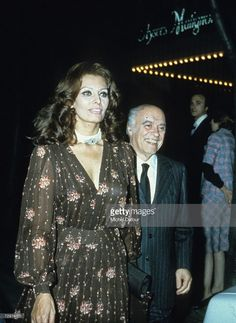 Italian film producer Carlo Ponti (1912 - 2007) and his wife, Italian actress Sophia Loren are seen in this photo taken between 1978 and 1982 in Paris, France. Ponti died January 9, 2007 at the age of 94.