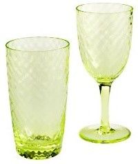 Hammered Drinkware, Lime contemporary everyday glassware