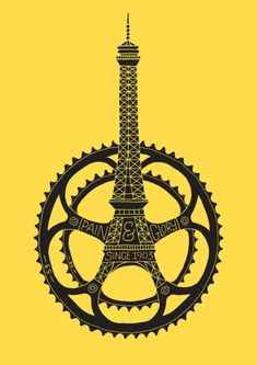 In commemoration of the riding of Le Tour de France, cycling enthusiast and graphic designer, Dave Foster (aka Dave the Designer), has put together Gravure Illustration, Illustration Art, Velo Vintage, Bike Poster, France Art, Bicycle Art, Bicycle Store, Cycling Art, Cycling Bikes