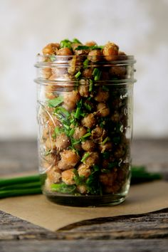 Cool Ranch Roasted Chickpeas Recipe ~ Says: Do you remember cool ranch Doritos? The flavors in this roasted chickpea recipe magically combine to create a much healthier, but equally crave-worthy version of those chips. It's also a great way to use those random bits of leftover fresh herbs in your fridge.
