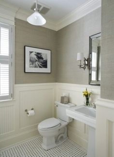 Small bathroom, love the colors by helene