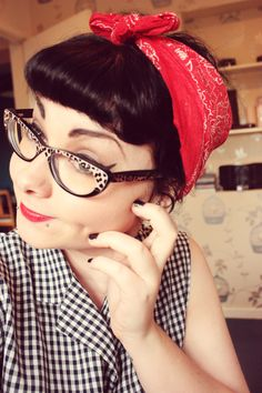 Cute Betty bangs and glasses