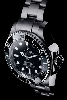 The Rolex Deepsea in 904L steel with a black dial and an Oyster bracelet.