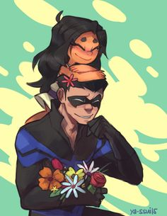 Nightwing and Mar'i. Father and daughter