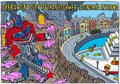'Cuban Transformer', viñeta de #AlenLauzán en Diario de Cuba  #Cuba