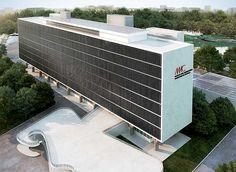 Niemeyer...MAC Ibirapuera: serão instalados brises na fachada, como previsto no projeto original. As colunas em V serão substituídas por outras em Y, como mostra a imagem