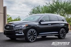 """2016 Infiniti QX60 with 22"""" Gianelle Cuba-10 in Matte Black (w/Ball Cut Details) wheels Infinity Suv, Infiniti Vehicles, Antique Cars For Sale, Preppy Car Accessories, Family Car Decals, New Luxury Cars, Buick Cars, Old Car Parts, Disney Cars Birthday"""