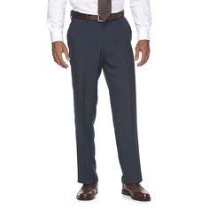 Men's Croft & Barrow® True Comfort Classic-Fit Opticool Dress Pants, Size: 42X30, Med Blue