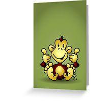 Monkey Greeting Card. #Redbubble #Cardvibes #Tekenaartje #SOLD