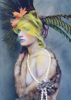 Mad About You | Eugenia Volodina| Steven Meisel #photography | Vogue US, October 2003 |