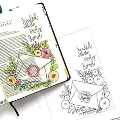Hello everyone! I was flipping through my first journaling Bible when I came across a page I journaled in Ephesians and knew I wanted to create the same one in my new Bible. While tracing the image…