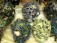 mask-based assemblage project, i feel like the middle school or even high school boys would LOVE this!
