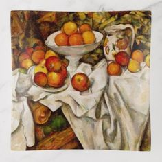 Shop Paul Cézanne - Apples and Oranges fine art Paper Placemat created by antiqueart. Cezanne Still Life, Still Life Artists, Yellow Apple, Classic Paintings, Contemporary Paintings, Orange Art, Stone Coasters, Impressionist Paintings, Paul Gauguin