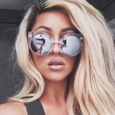 Quay China Doll Sunnies Never used. Yes authentic! Super cute and edgy! Trade only for my girl or kitty!!! Clear with mirrored lens Quay Accessories Sunglasses