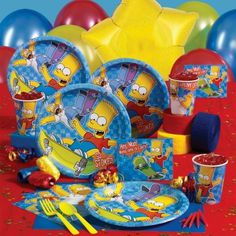 If your child love the Simpsons, this would make the perfect theme for their next birthday party. You will find everything you need for your party planning on my birthday page. For your party supplies, there is an officially licensed Simpsons… 30th Birthday Themes, Birthday Supplies, Birthday Fun, Birthday Parties, 11th Birthday, Party Supplies, Birthday Ideas, Kids Party Themes, Kid Party Favors