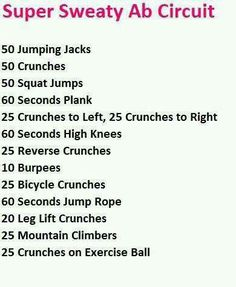 Cardio ab circuit...because spot reduction doesn't actually work.