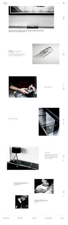 """Design & Création d'un site e-commerce de Luxe en Responsive Design pour la marque """"Le Gramme"""" - Home page - #minimalist #design #responsive #scroll #clean #ux #ui"""