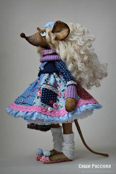 Мышка Ланочка - купить или заказать в интернет-магазине на Ярмарке Мастеров | Мышка Ланочка выполнена полностью из хлопковых…