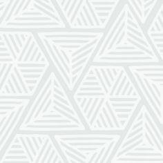 Geometric Play White SAMPLE - White Sample