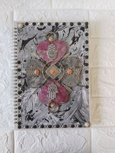 Unique Wire Notebook Scrapbook Diary Journal Sketch Book   Etsy Hamsa Art, Good Luck Symbols, Decorate Notebook, Cat Wall, Journal Diary, Scrapbook, Wooden Hearts, Cat Lover Gifts, Friends In Love