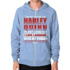 HARLEY QUINN Zip Hoodie (on man)