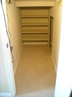 Shelving (Toy closet under the stairs)