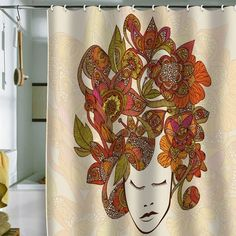 I pinned this It's All In Your Head Shower Curtain from the Valentina Ramos event at Joss and Main!