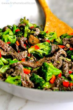 spectacular beef and broccoli