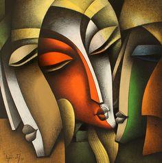 The Modern Art Movements – Buy Abstract Art Right Indian Art Paintings, Modern Art Paintings, Decorative Paintings, Portraits Cubistes, Tableau Pop Art, Art Visage, Afrique Art, Frida Art, Cubism Art