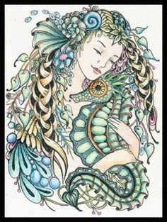 Deep Love - Tangled Mermaid...Fairy Tangles: Nov 2011