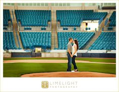 STEINBRENNER FIELD, Tampa, FL, Engagement Session, Limelight Photography, www.stepintothelimelight.com, portrait, couple, baseball, yankees, theme, photos,