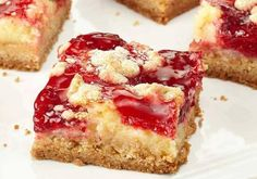 1 box Duncan Hines® Signature French Vanilla Cake Mix  ½ cup butter, melted  3 large eggs, divided  1 package (8 oz) cream cheese  2 1/2 cups plus 2 Tbsp. confectioner's sugar  1 can (21 oz) Duncan Hines Comstock® Strawberry    Baking Instructions    Preheat