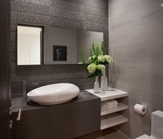 14 Functionally Decorated Contemporary Powder Rooms - Architecture, Art, Desings - Daily source for inspiration and fresh ideas on Architect...