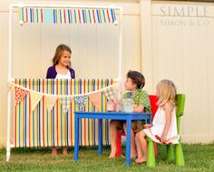PVC Pipe Lemonade Stand by Riley Blake Designs blog. We love it!