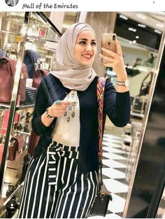 Casual Hijab Outfit, Hijab Chic, Hijab Style Tutorial, Modele Hijab, Hijab Fashionista, Outfit Look, Girl Hijab, Professional Outfits, Muslim Fashion