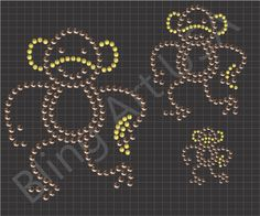 Monkey Rhinestone Design Template Download