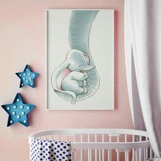 How to Decorate Your Child's Bedroom in an Elephant Theme Elephant Baby Rooms, Elephant Themed Nursery, Baby Boy Rooms, Baby Boys, Baby Room Paintings, Baby Painting, Baby Bedroom, Baby Room Decor, Dumbo Nursery