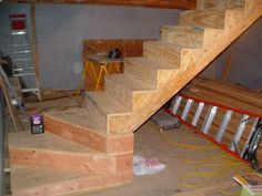 winder stairs for small spaces Basement House, Basement Stairs, House Stairs, Garage Stairs, Attic Renovation, Attic Remodel, Small Space Staircase, Winder Stairs, Stair Plan