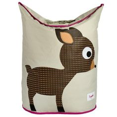 3 Sprouts : 3 sprouts laundry hamper - brown/pink deer : Baby Charlott…