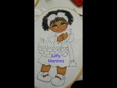 Pintura en Tela Cabello Afro Largo Negrita Sandía 3 - YouTube