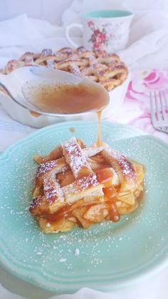 ¡Apple Pie Fácil! Receta de tarta de Manzana. My Recipes, Sweet Recipes, Small Desserts, Cakes And More, Cooking Time, Waffles, Deserts, Vegetarian, Sweets