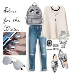 """Silver for the Winter"" by amrinjo ❤ liked on Polyvore featuring White House Black Market, MANGO, Loeffler Randall, Boohoo, Chiara Ferragni and Calvin Klein"