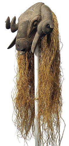 Baule Ram Mask, Ivory Coast