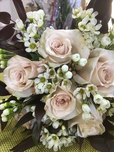 Our latest wedding. Congratulations to the happy couple! Hartman's Flowers Maryville TN #bridal bouquet #wedding flowers
