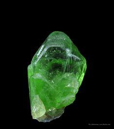 Peridot Sapat Gali, Kaghan Valley, Khyber Pakhtunkhwa, Pakistan This unusually sharp Peridot crystal glowing lime green color